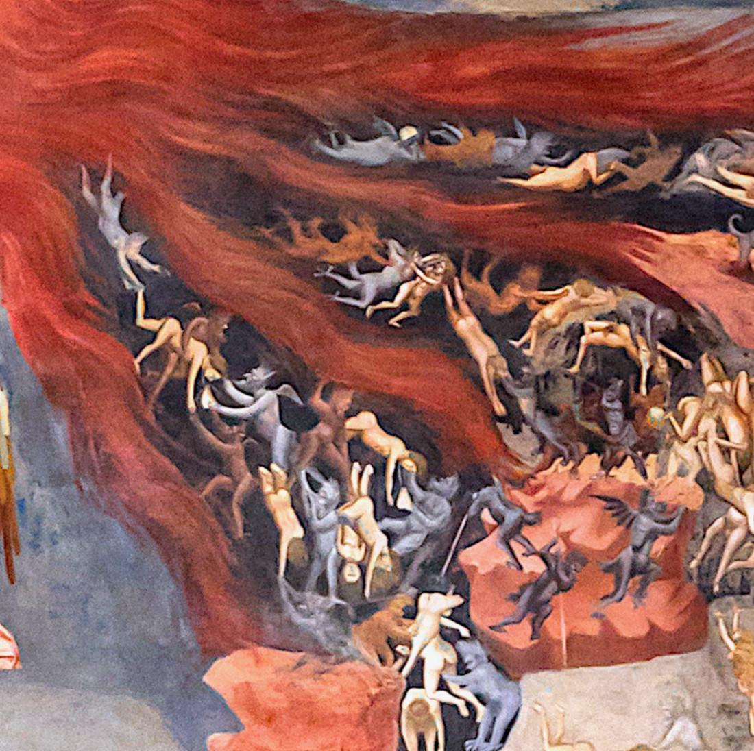 Giotto: El Juicio Final - detalle del infierno [3]