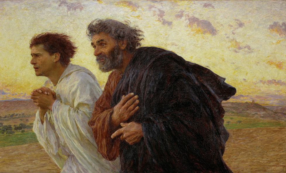 Eug�ne Burnand: Peter and John Running to the Tomb