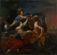 Il Guercino: Lot and his daughters