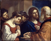 Il Guercino (Giovanni Francesco Barbieri): The Woman taken in Adultery