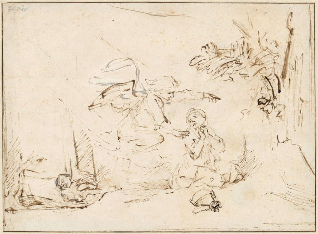 Rembrandt Harmensz. van Rijn: The Angel Appears to Hagar
