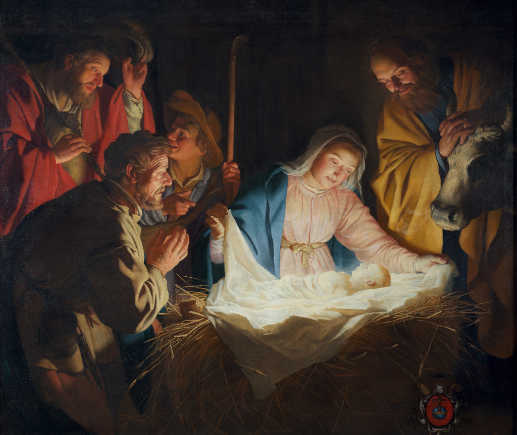 Gerard (Gerrit) van Honthorst: Adoration of the Shepherds (1622)