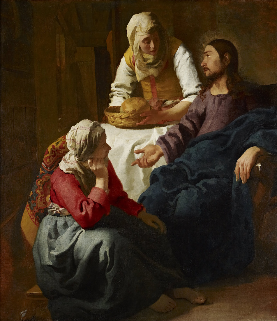 Johannes Vermeer: Christ in the House of Martha and Mary