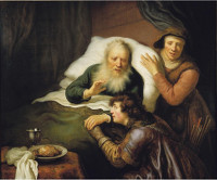 Govert Flinck: Isaac blesses Jacob (Utrecht)