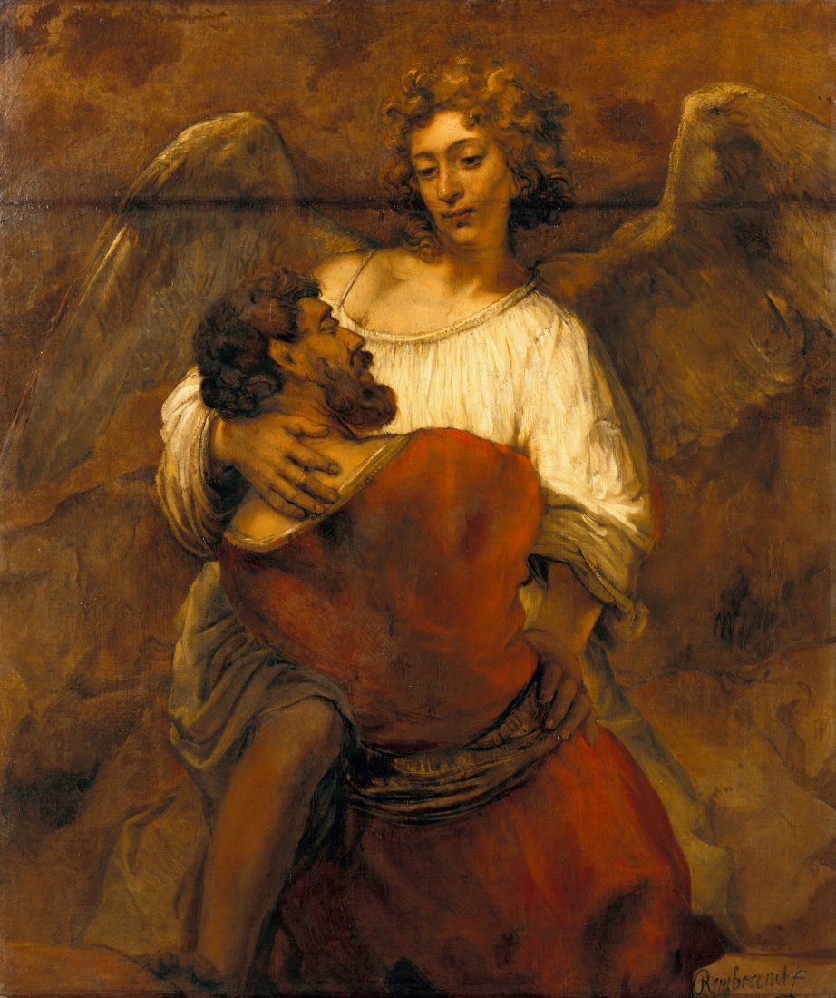 Rembrandt Harmensz. van Rijn: Jacob Wrestling with the Angel