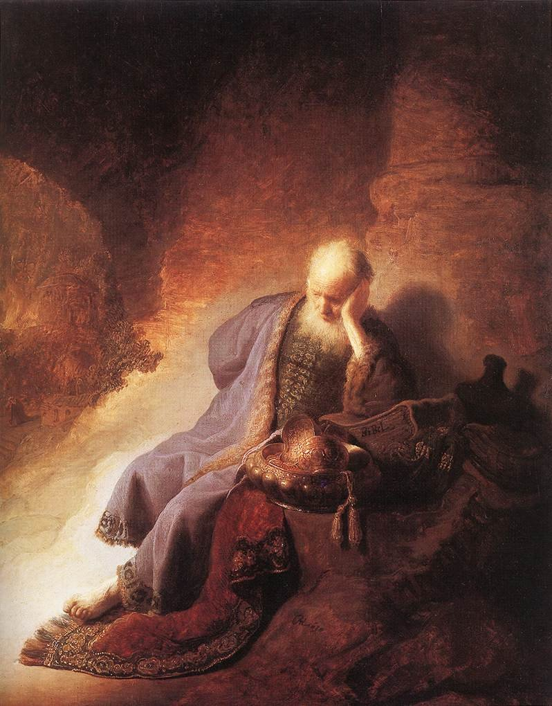 Rembrandt harmensz van rijn jeremiah lamenting the destruction of jerusalem