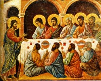 Duccio di Buoninsegna: The Appearance to the Apostles (Maestà)