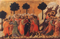 Duccio di Buoninsegna: Jesus Captured (detail) (Maestà)