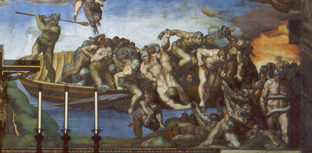 Michelangelo Buonarroti: The Last Judgement (detail 1)