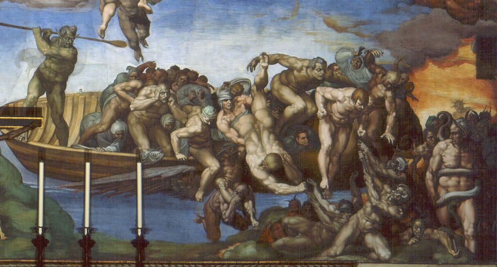 Michelangelo Buonarroti: The Last Judgement (detail 2)
