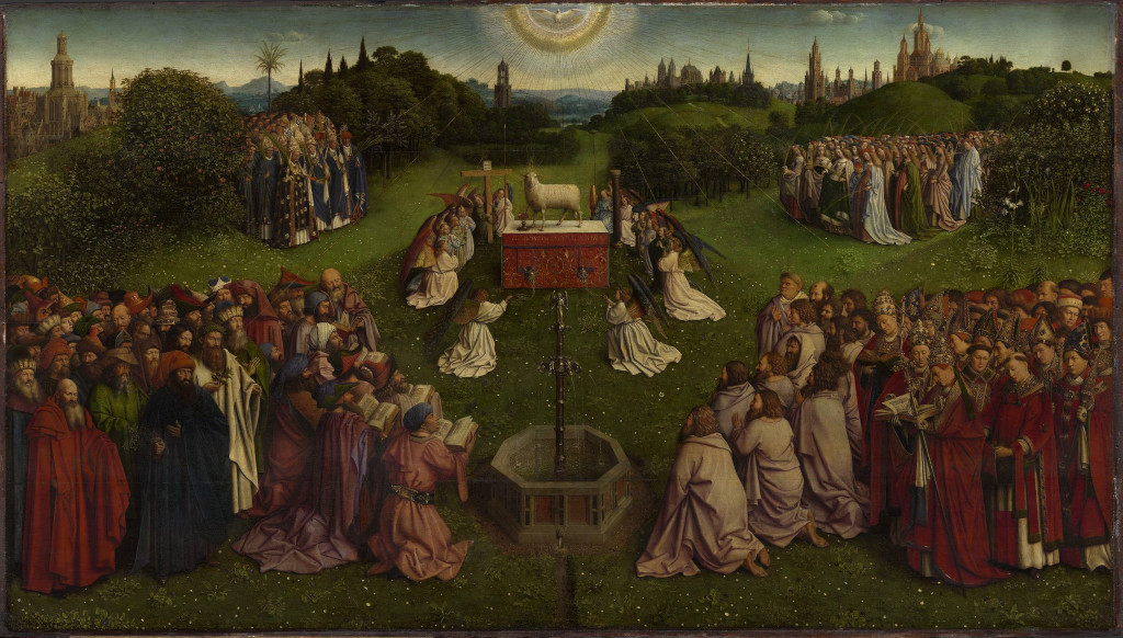 Central panel of the most famous work of art by the Van Eyck brothers Picture Of Jan Van Eyck