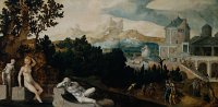 Jan van Scorel: Landscape with Bathsheba