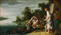 Pieter Lastman: The angel and Tobias with the fish