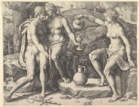 Lucas van Leyden: Lot and his Daughters (print)