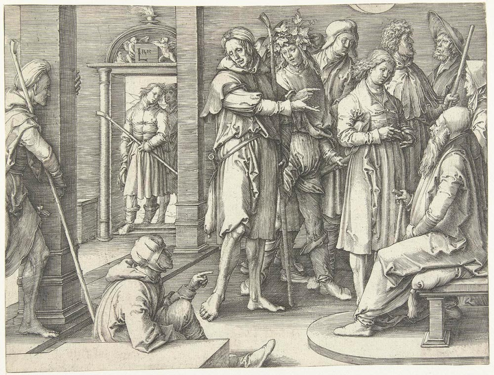 Lucas van Leyden: Joseph tells his dreams to Jacob