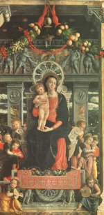 Andrea Mantegna: Mary with child (San Zeno altarpiece)