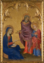 Simone Martini: Mary asks Jesus what he was thinking