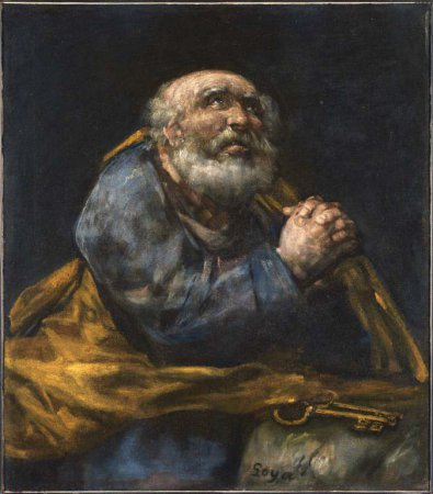 Francisco Goya The Repentant St Peter - Francisco goya paintings