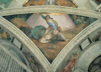 Michelangelo Buonarroti David Beats Goliath