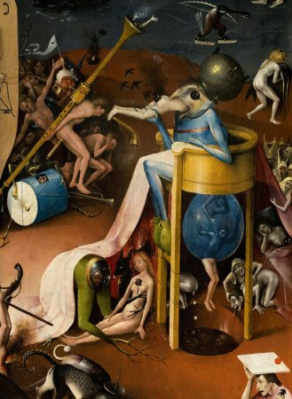 Jheronimus Bosch Garden of Earthly Delights , Hell (detail)