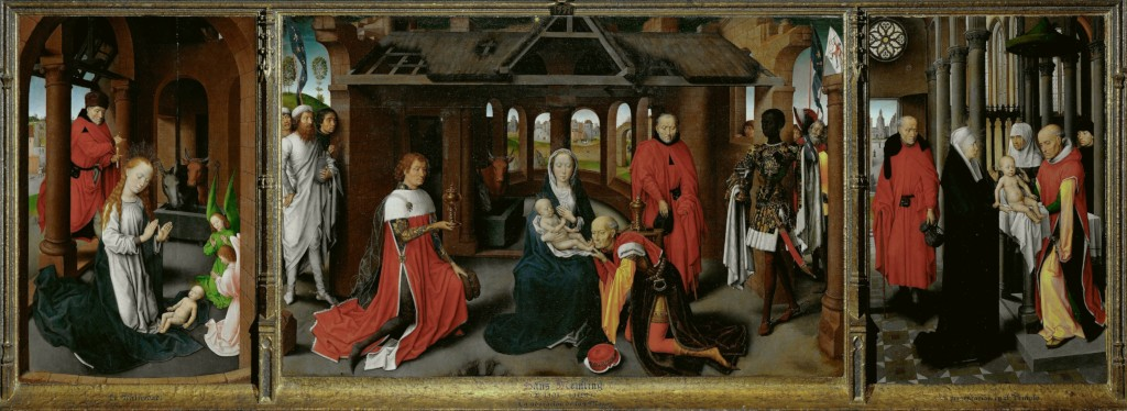 Hans Memling: Triptych with the Birth, the Adoration of the Magi, and the Presentation in the Temple