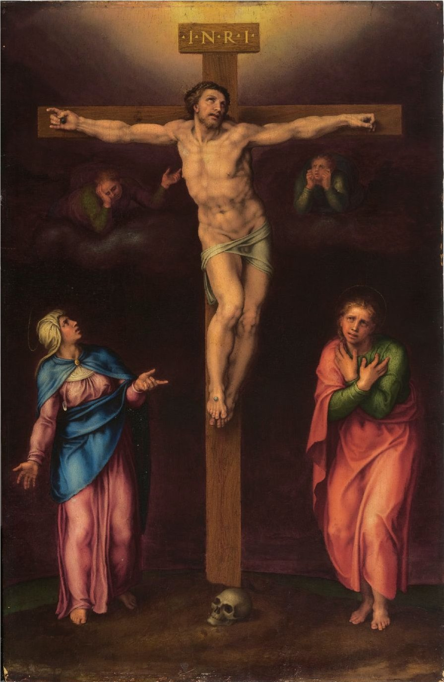 Michelangelo Buonarroti: Crucifixion with Mary and John