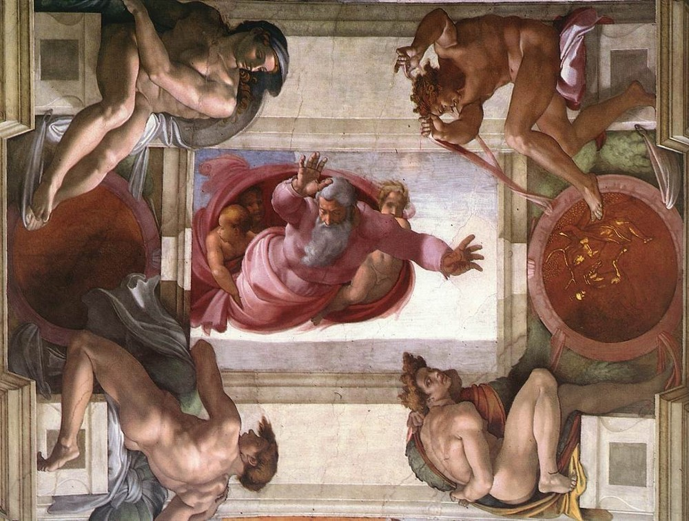 Michelangelo Buonarroti: The Separation of Land and Water