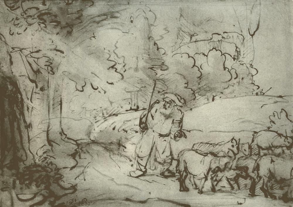 rembrandt harmensz van rijn moses at the burning bush