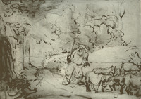 Rembrandt Harmensz. van Rijn: Moses at the Burning Bush