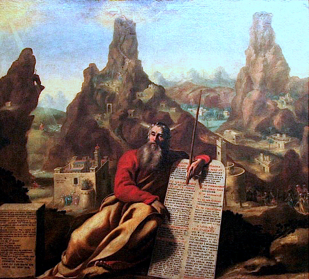 Jacques de L�tin: Moses at Mount Sinai