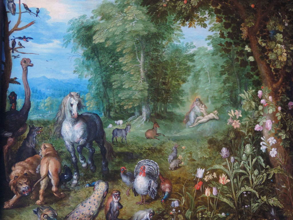 Jan brueghel the elder paradise for Adan y eva en el jardin del eden