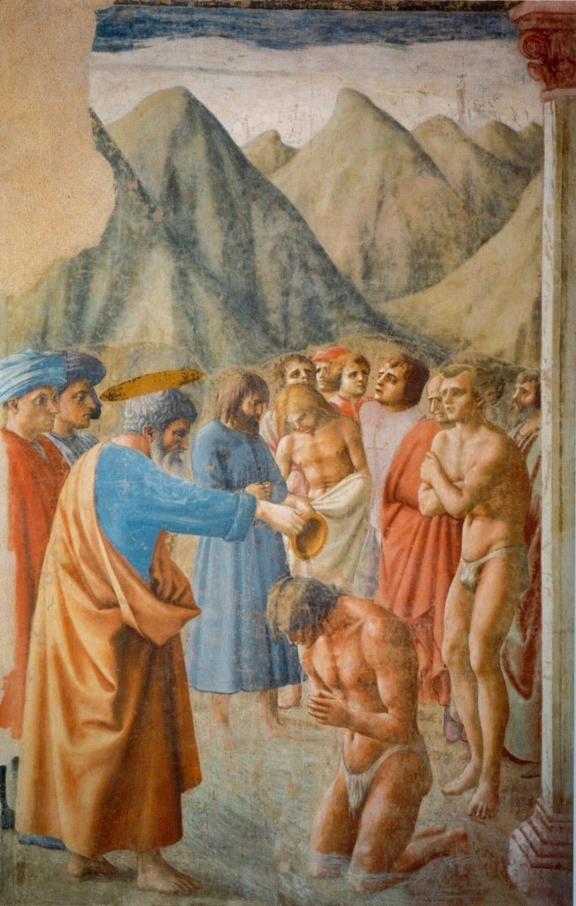 Masaccio: The Baptism of the Neophytes