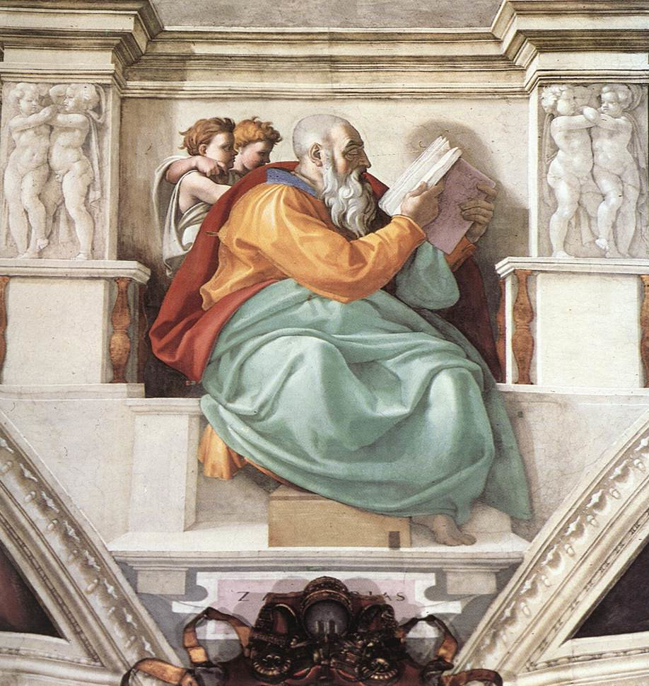 Michelangelo Buonarroti: The Prophet Zechariah Zechariah The Prophet