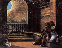 Raphael: Isaac and Rebecca spied upon by Abimelech