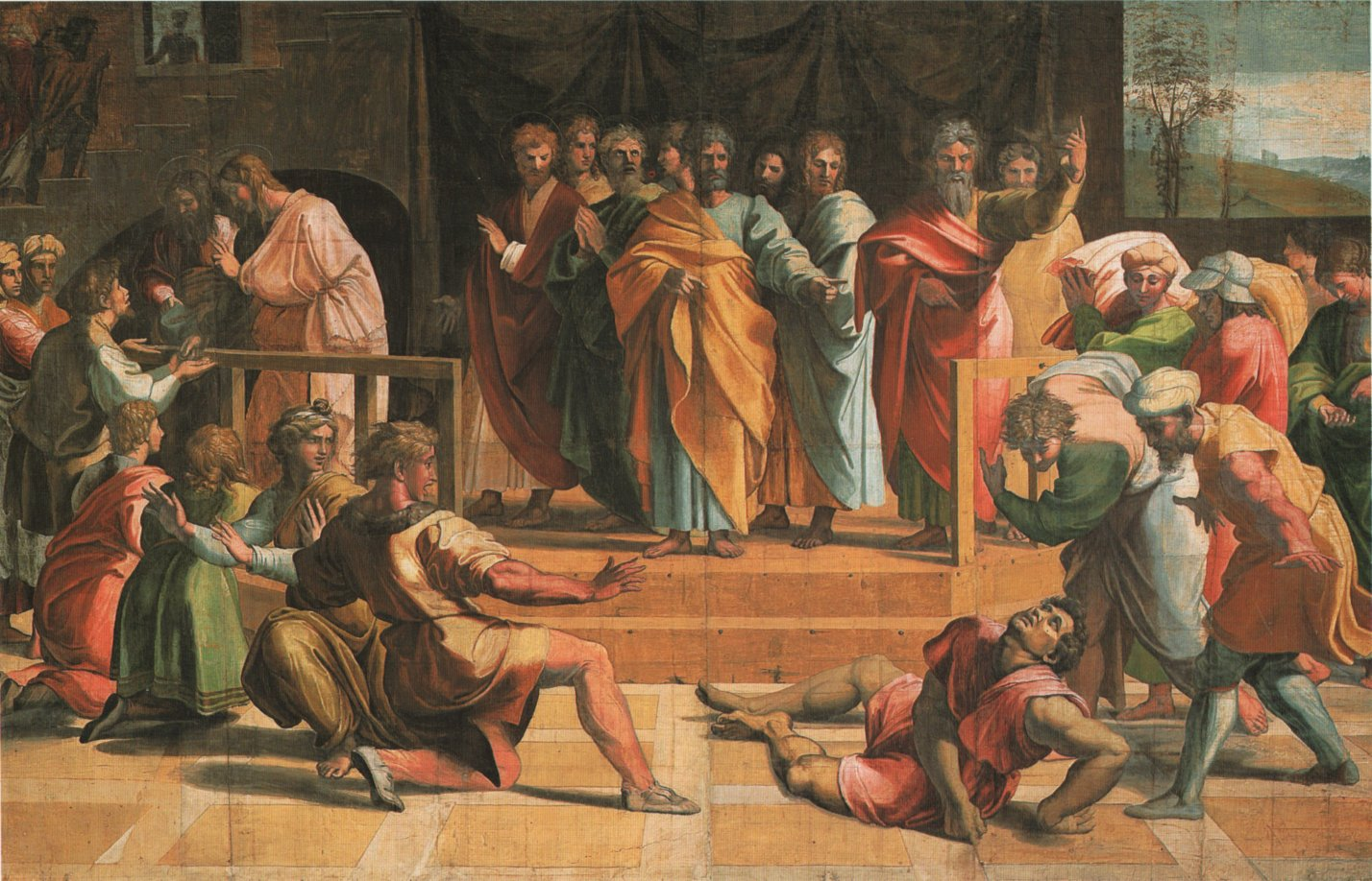 Raphael: The Death of Ananias