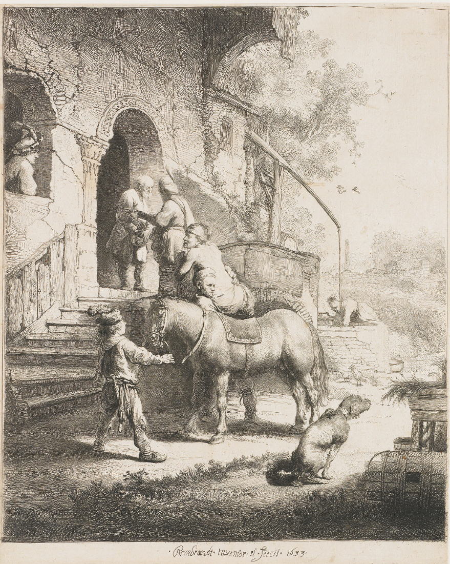 Rembrandt Harmensz. van Rijn: The good Samaritan at the Inn (1633)