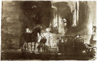 Rembrandt Harmensz. van Rijn: The Good Samaritan at the Inn (1642)