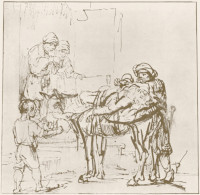 Rembrandt Harmensz. van Rijn: The Good Samaritan at the Inn (1649)