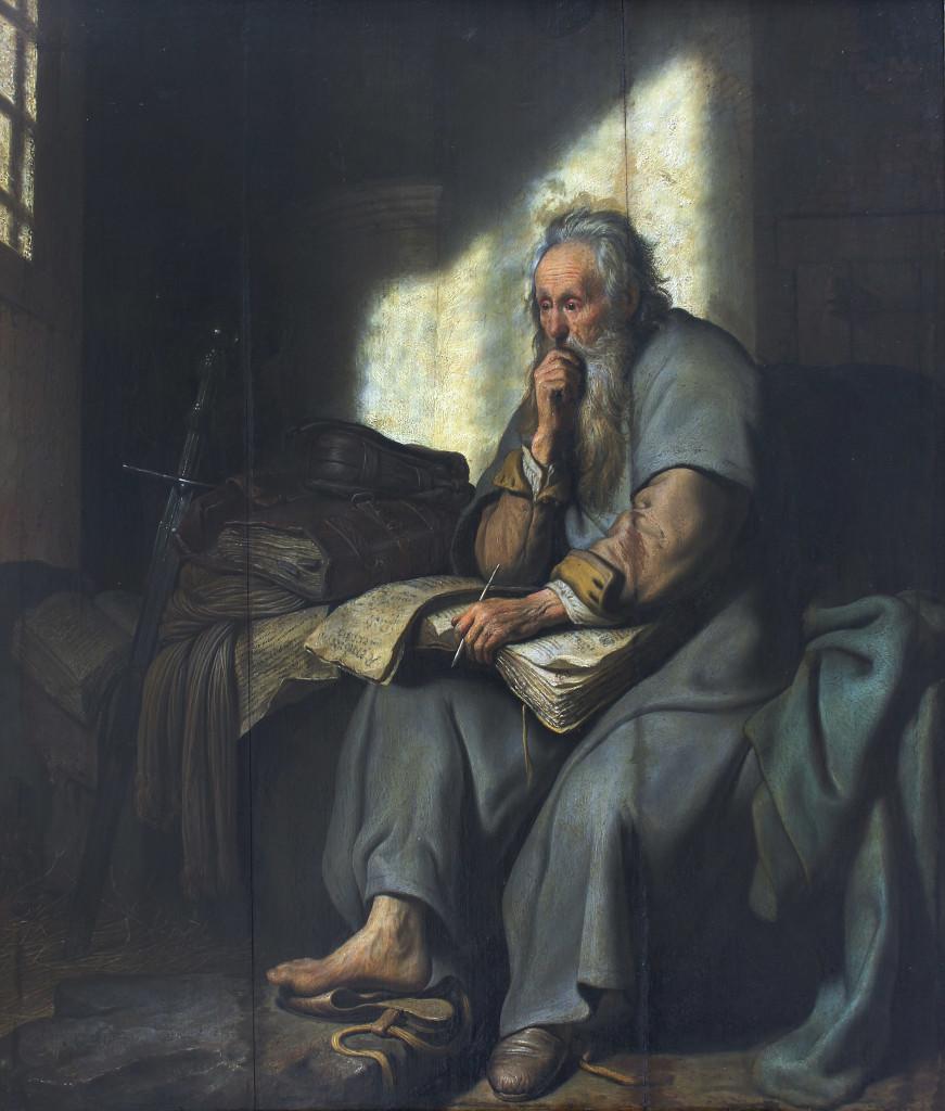 Rembrandt, St. Paul in Prison dans immagini sacre remb_paulus_gevang_grt