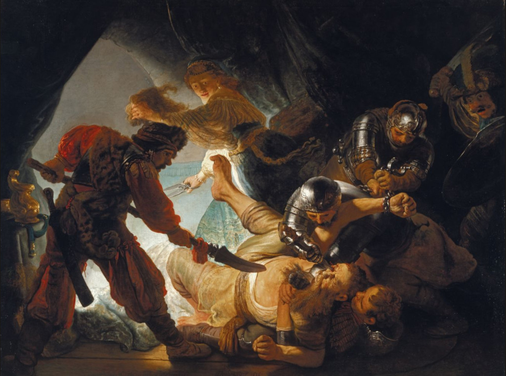 Rembrandt Harmensz. van Rijn: The Blinding of Samson