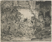 Rembrandt Harmensz. van Rijn: The Adoration of the Shepherds (with the lamp)