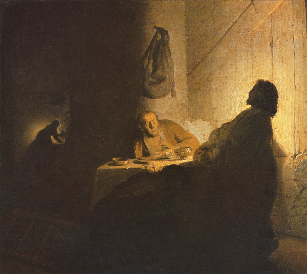 Rembrandt Harmensz. van Rijn: Supper at Emmaus (1628)