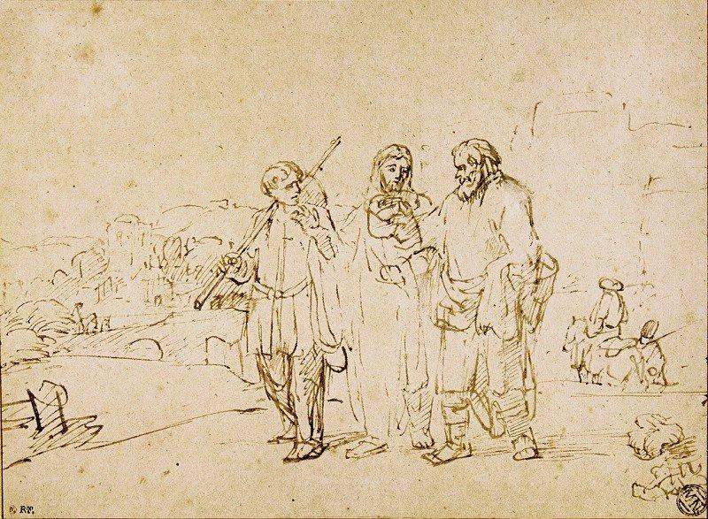 Rembrandt Harmensz. van Rijn: Walking to Emmaus