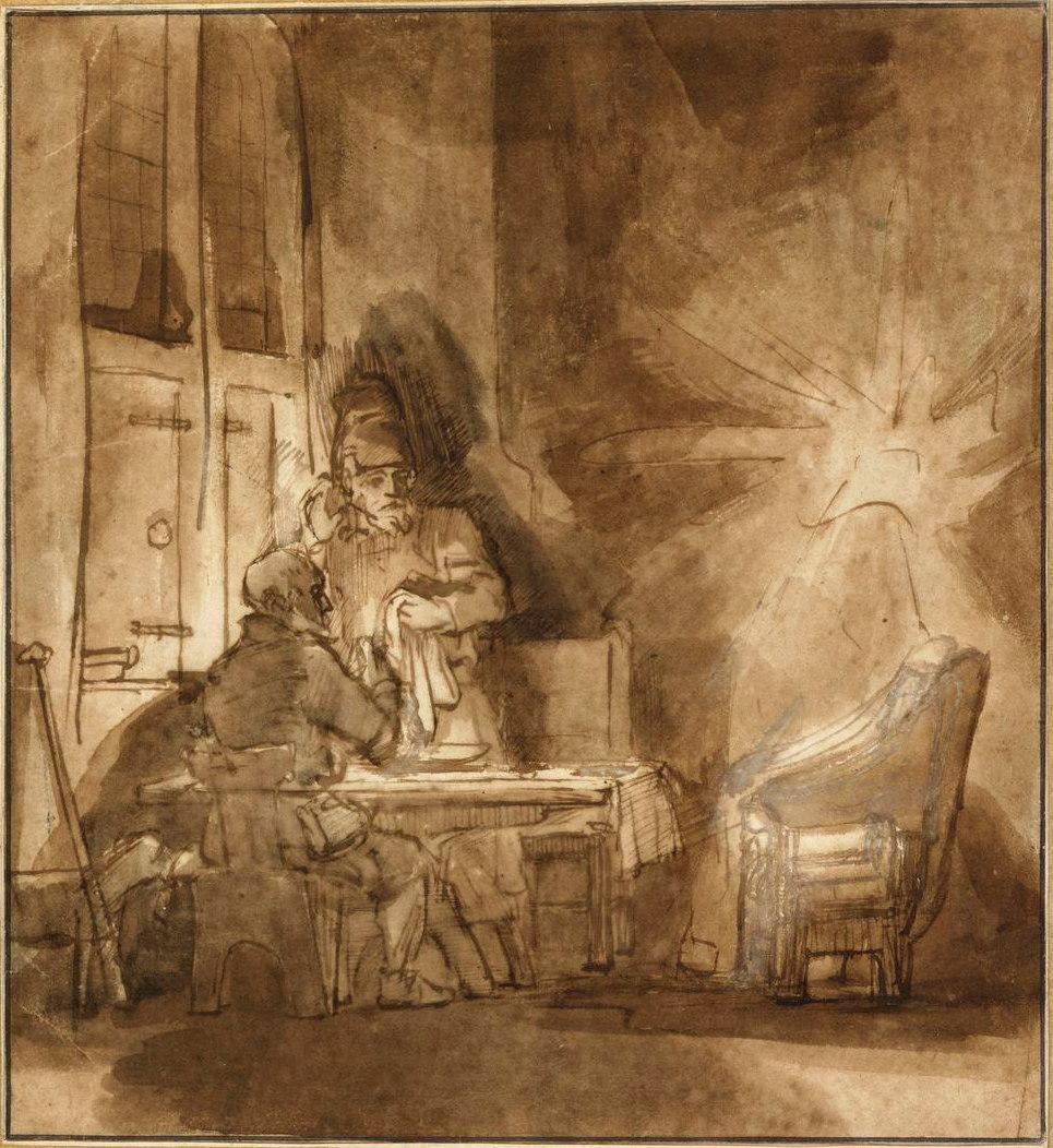 Rembrandt Harmensz. van Rijn: Jesus' Disappearance From Emmaus