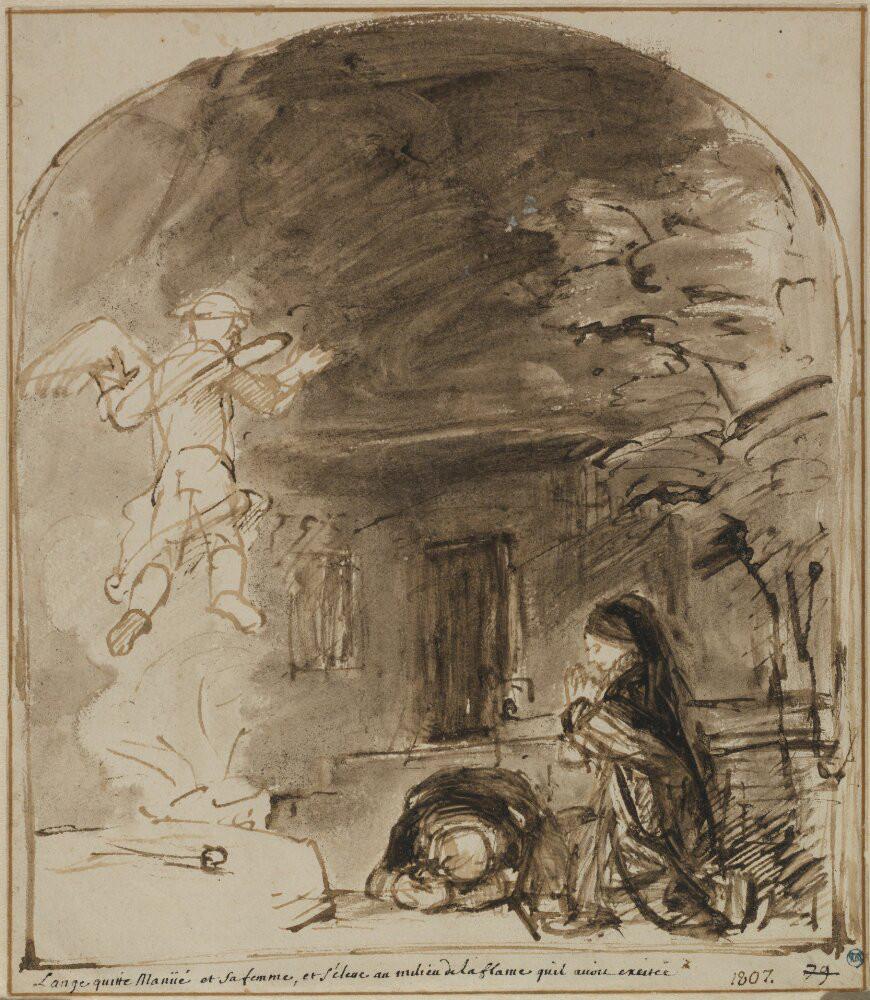Willem Drost: The Angel Ascends after Manoah's Sacrifice