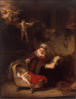 Rembrandt Harmensz. van Rijn: The Holy Family with Angels