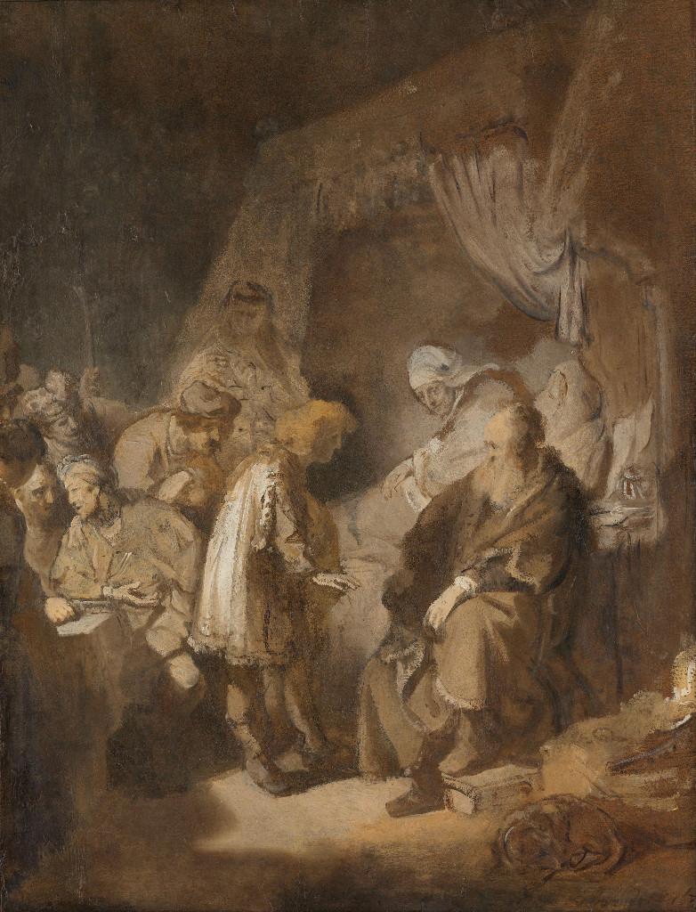 Rembrandt Harmensz. van Rijn: Joseph tells his dreams to Jacob