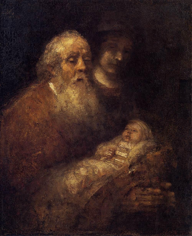 Rembrandt Harmensz. van Rijn: Simeon's Song of Praise (1669)