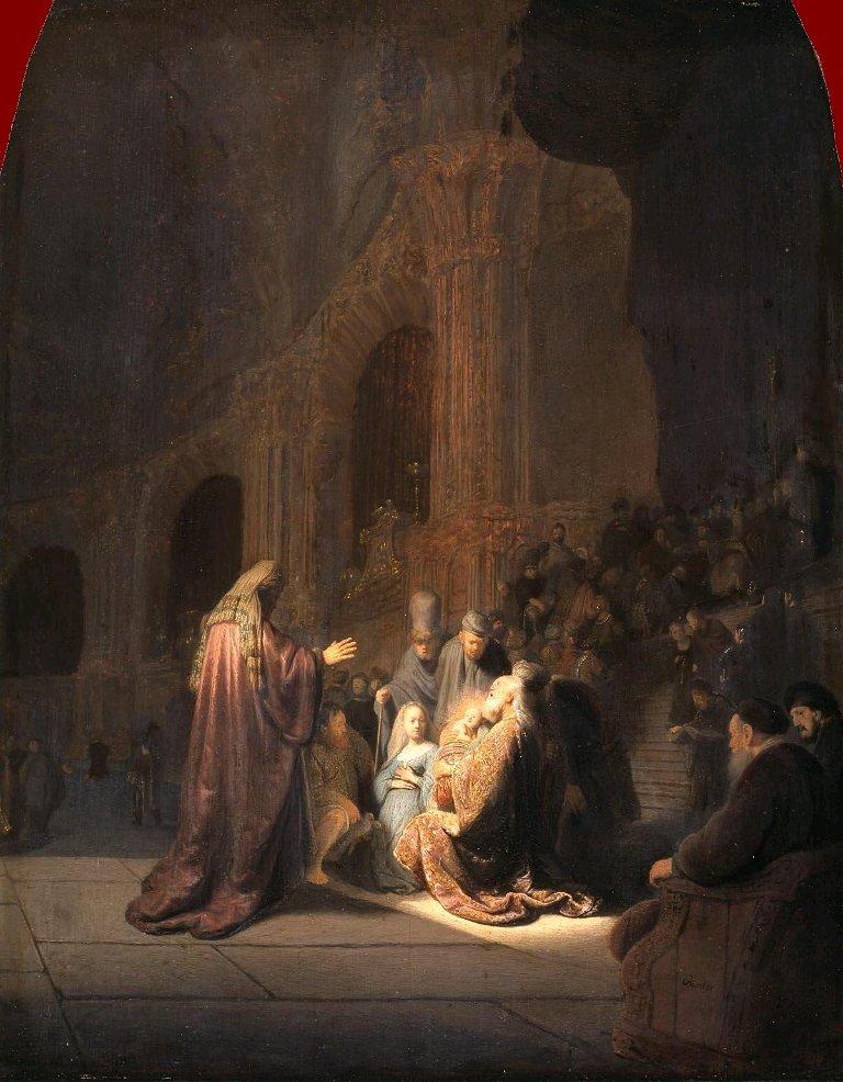 Rembrandt Harmensz. van Rijn: Simeon's Song of Praise (1631)