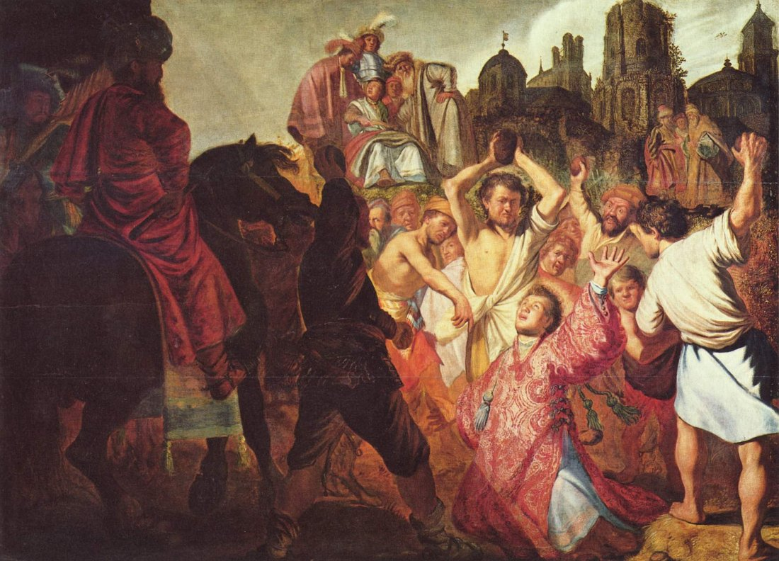 Rembrandt Harmensz Van Rijn The Stoning Of St Stephen
